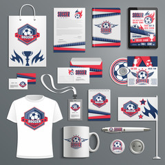 Corporate identity for soccer, football sport club