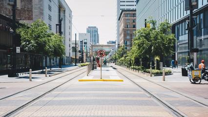 park city street Fotomurales