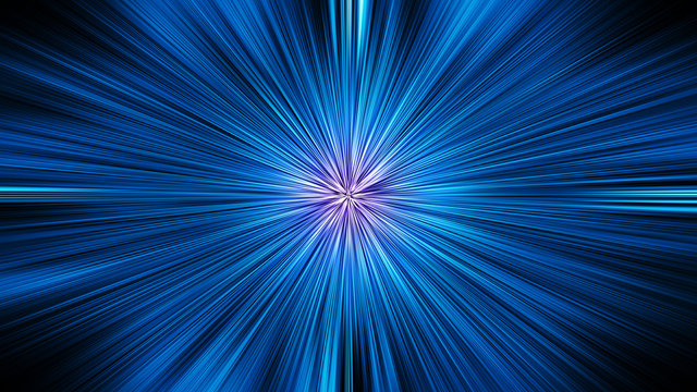 Abstract zoom motion background stargate in deep space