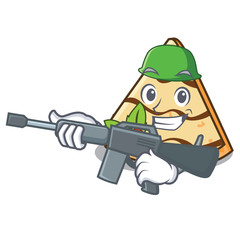 Army crepe character cartoon style