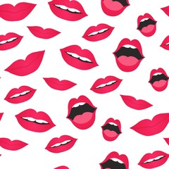 lip seamless pattern