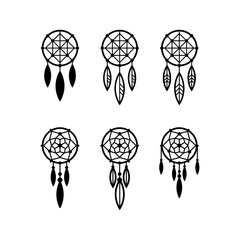Dream catcher icon set