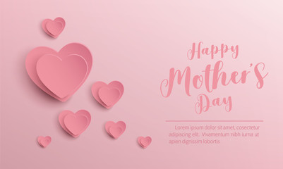 happy mother's day banner vector design
