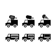 Ice cream truck icon set