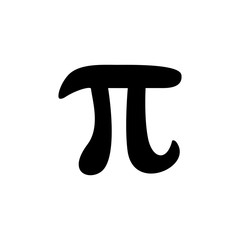 Pi mathematical constant vector icon