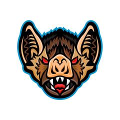 Vampire Bat Head Mascot