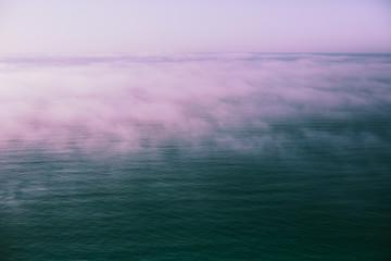 Fog above Black sea