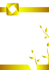 Geometric background, Vertival A4 paper, Introduction page, Golden square