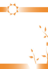 Geometric background, Vertival A4 paper, Introduction page, Orange sunlight