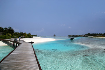 The Maldives. Paradise rest. Beautiful seascape. Place for relaxation