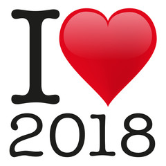 2018 - i love - bonheur - réussite - succès - heureux - amour - année - aimer - message