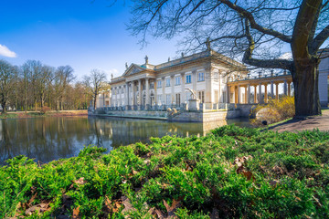 Lazienki park and royal palace in Warsaw, Poland