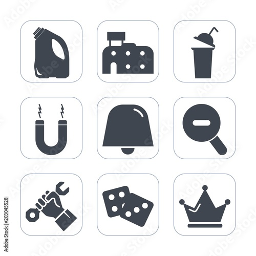 premium fill icons set on white background such as king industry