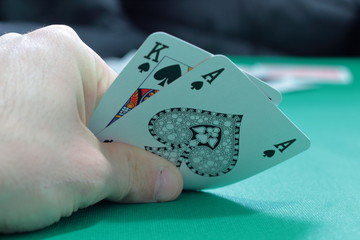 the risk is everything for a poker player