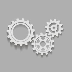 Механические шестеренки иконка. Векторная иллюстрация