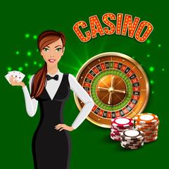 Casino Realistic Green Composition