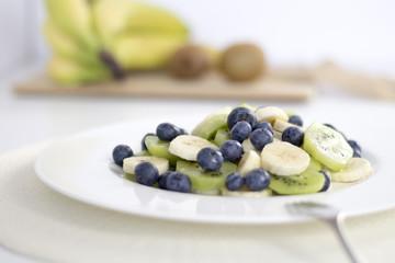 Bowl of healthy fresh fruit salad