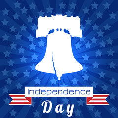 Independence Day of the USA. Liberty Bell. Tape, event name