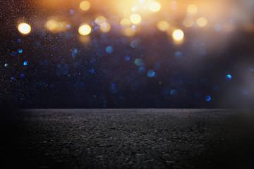 dark concentrate or asphalt floor with dark black glitter background. Fotomurales