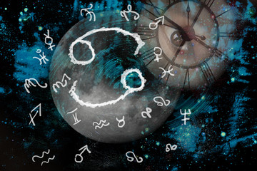 Space and astrology, zodiac sign cancer