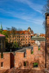 Vue sur la Vieille Ville de Cracovie du haut du Château du Wawel