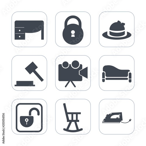 Premium fill icons set on white background   Such as style