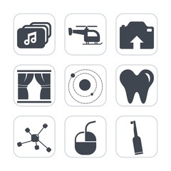 Premium fill icons set on white background . Such as format, document, sign, upload, dentist, healthy, technology, picture, white, aviation, file, dental, tooth, atom, web, electric, photo, toothbrush
