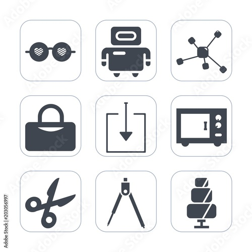 Icons As Premium Fill Set BackgroundSuch White CutMachine On wkPX08nO