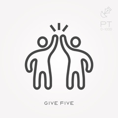Line icon give five