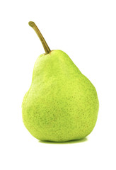 Ripe pear isolated on white