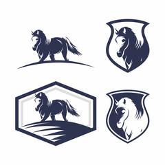 Collection Horse Logo Vector Design Template