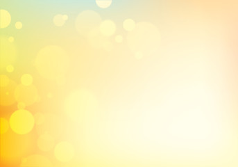 Blur bokeh of light background. Beautiful vector abstract illustration. Perfect abstraction with copy space for text.