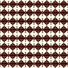 Ethnic style seamless pattern with geometric figures. Native americans ornamental abstract background. Tribal motif.