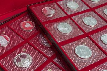 Münzen in Blister, Sichtverpackung 10 D-Mark, Deutsche Mark, Numismatik