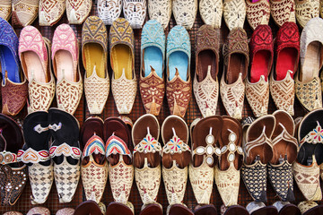 traditional Arabic shoes in east souk