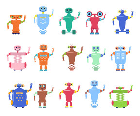 Set of Robots toys