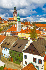 View over Krumlov in Bohemia