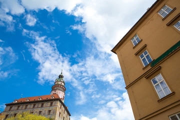 Castle and historic architectures in Krumlov