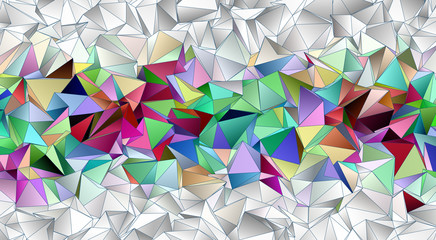 Abstract background, mosaic triangulated