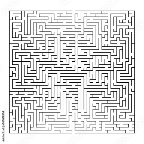 Complex Maze Puzzle Game 3 High Level Of Difficulty Black And