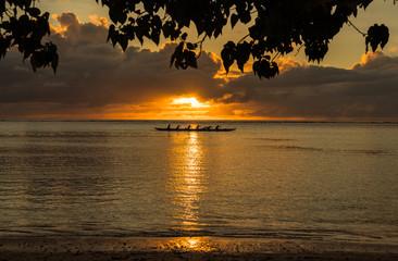 グアム タモン湾のサンセット