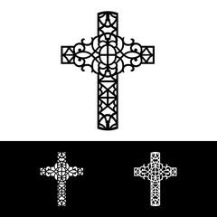 Decorative cross of silhouette