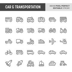 Car & Transportation Icon Set