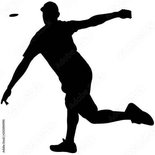 Disc Golf Silhouette Disc Golf Clipart Disc Golf Sports Vector
