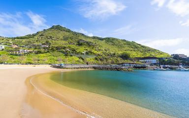 Wall Mural - Beach on Machico bay, Madeira Island, Portugal.