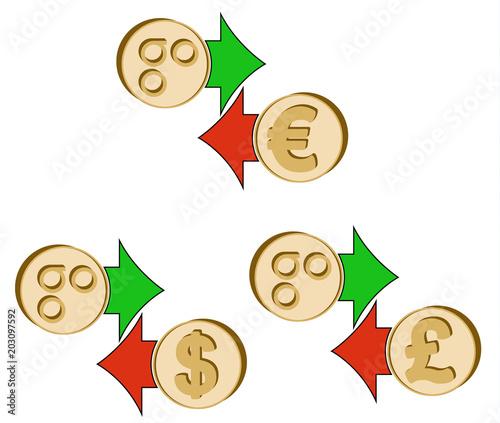 Exchange Omisego To Dollar Euro And British Pound Stock Image And