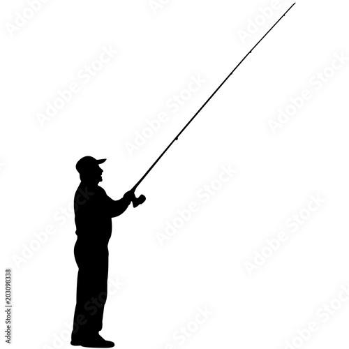 228a47bd Fishing silhouette, Man Fishing clipart, Fisherman vector, Svg, png, eps,  jpg