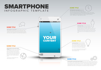 Smart Phone Infographic Layout