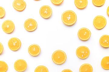 Group of orange slice.fruit and summer concept