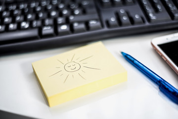 Urlaub Info auf Postet am Arbeitsplatz
